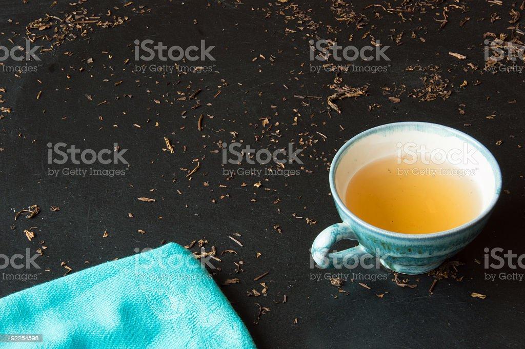 Green tea bancha stock photo
