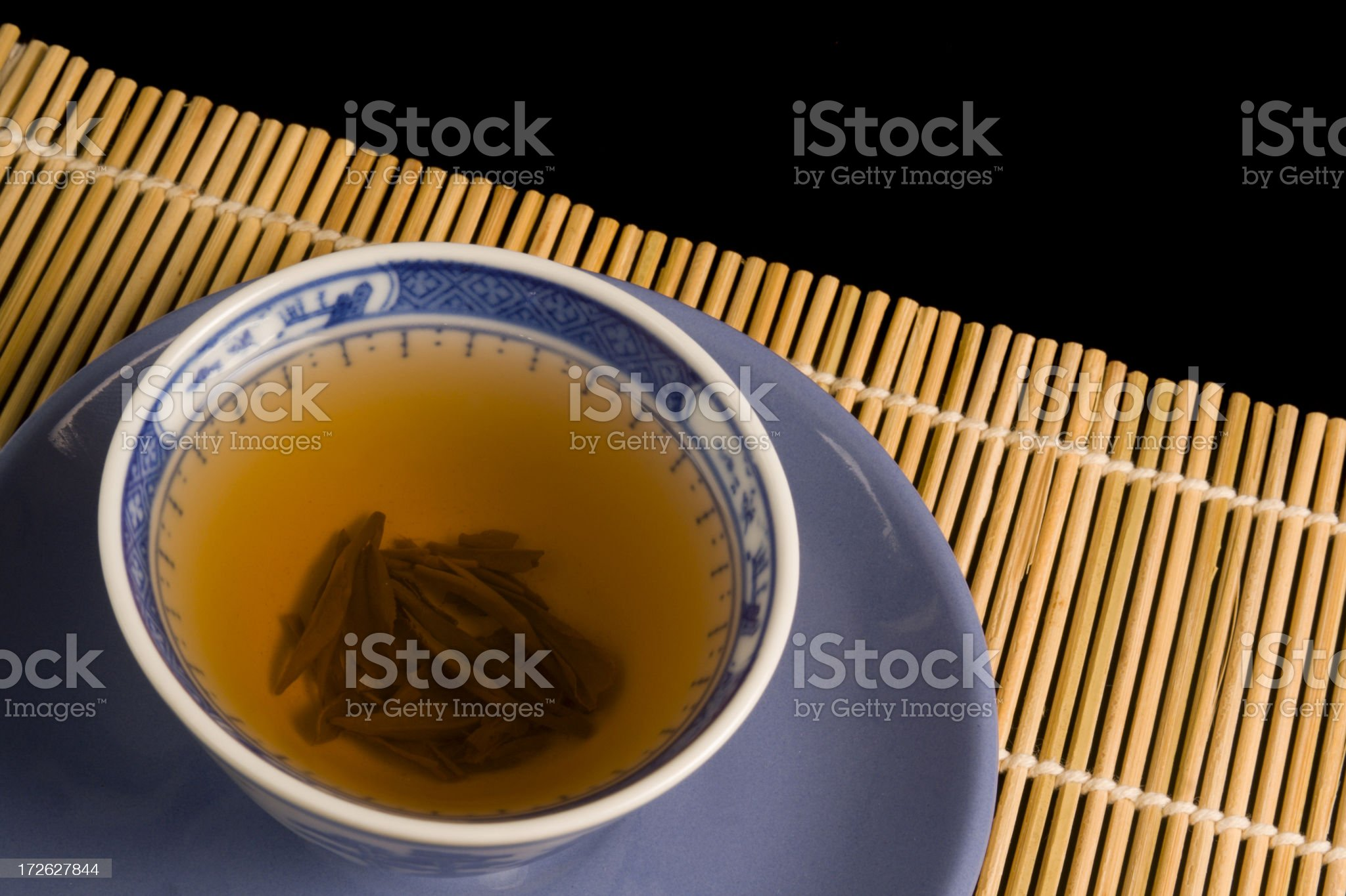 Green Tea Blue Cup Hz royalty-free stock photo