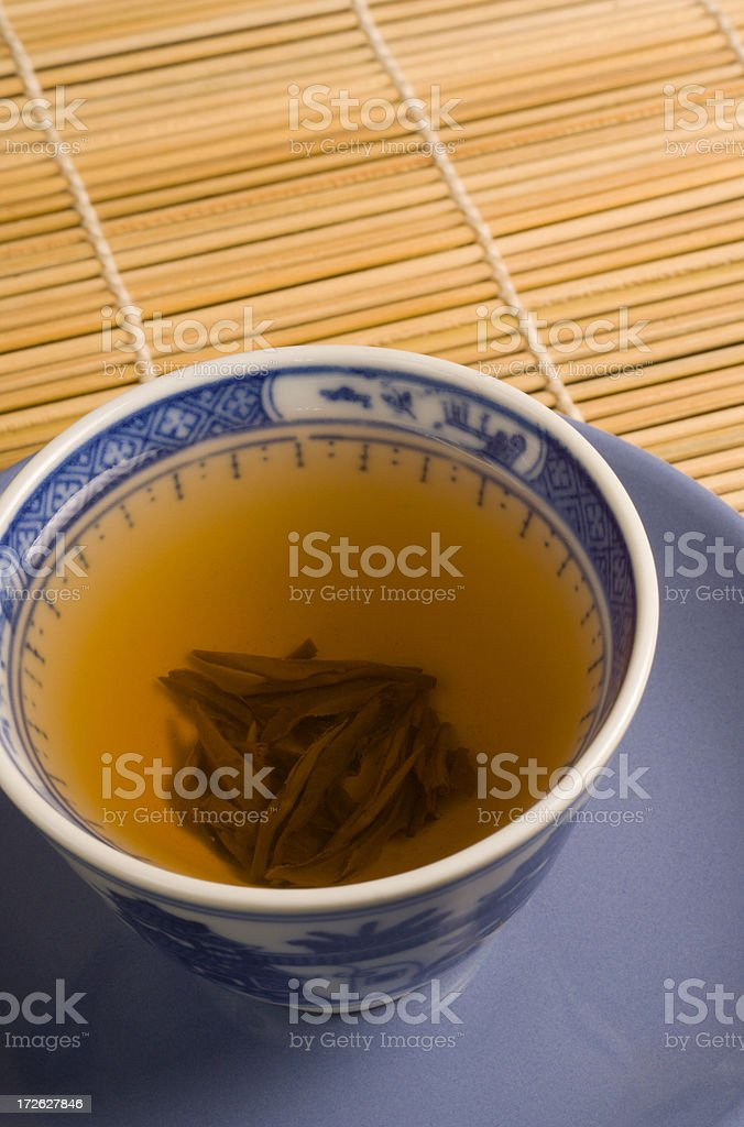 Green Tea Blue Cup Vt royalty-free stock photo