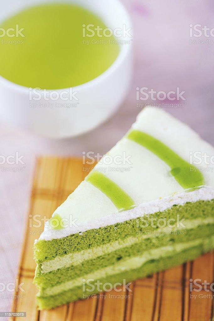 Green Tea Cake stock photo