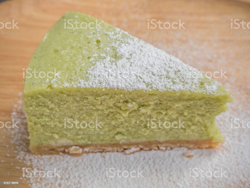 green tea cheese cake-2 stock photo