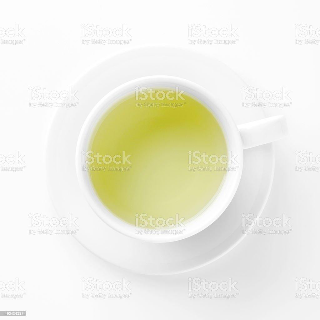 Green Tea Cup stock photo