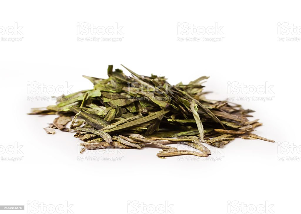 Green tea 'Dragon well' stock photo