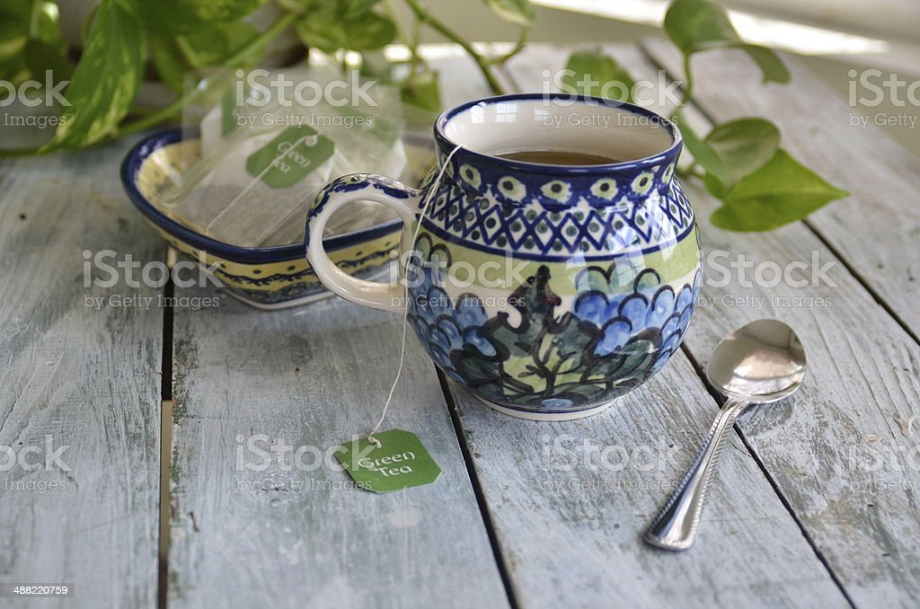Green Tea Herbal Remedies stock photo