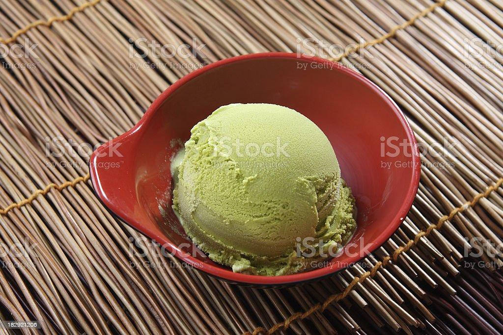 Green Tea Ice Cream stock photo