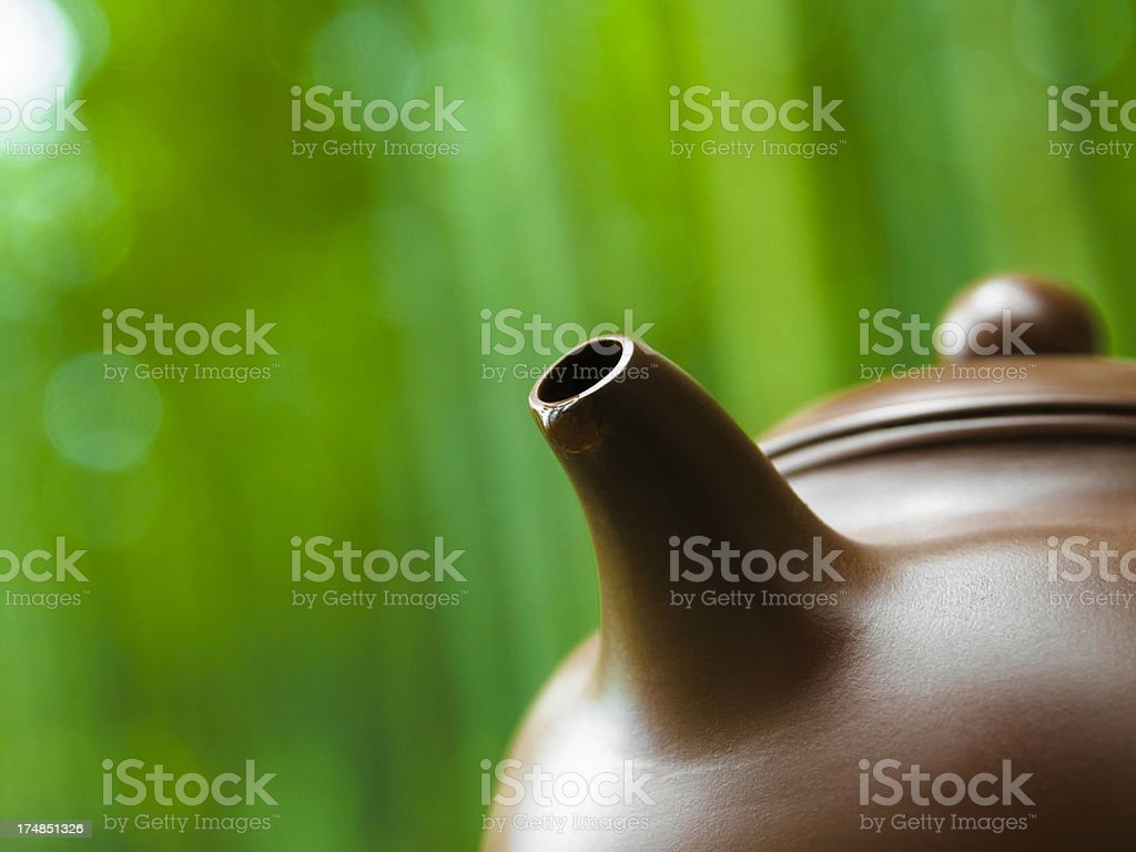 green tea in bamboo forest royalty-free stock photo