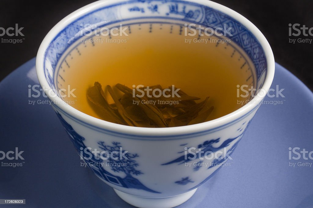 Green Tea in Chinese Cup: stock photo