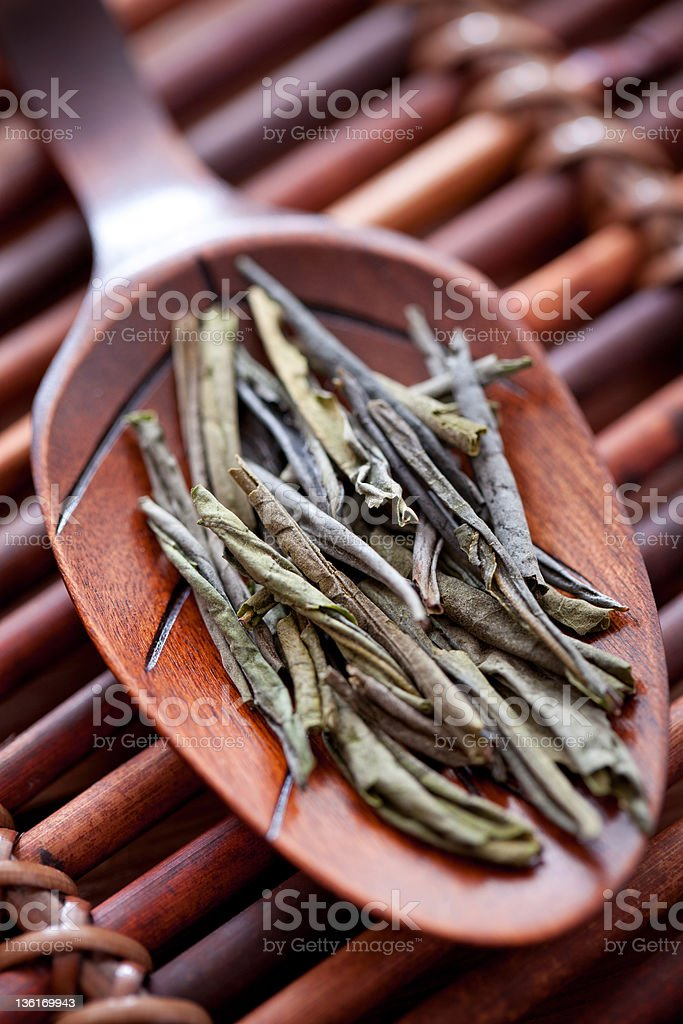 Green Tea Is Handmade. royalty-free stock photo