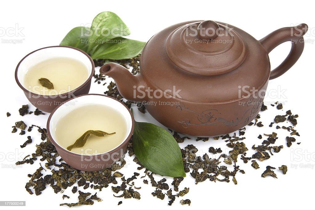 green tea isolated royalty-free stock photo