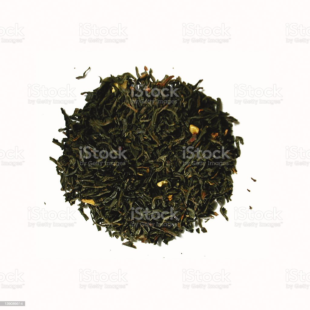 green tea leaves royalty-free stock photo