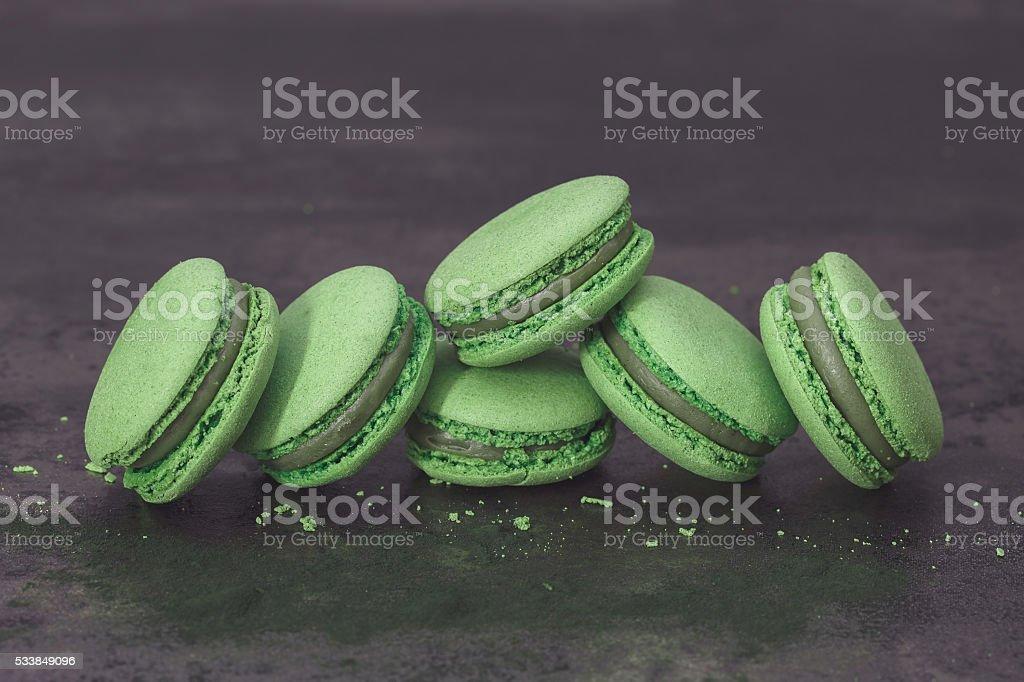 Green Tea Macarons stock photo