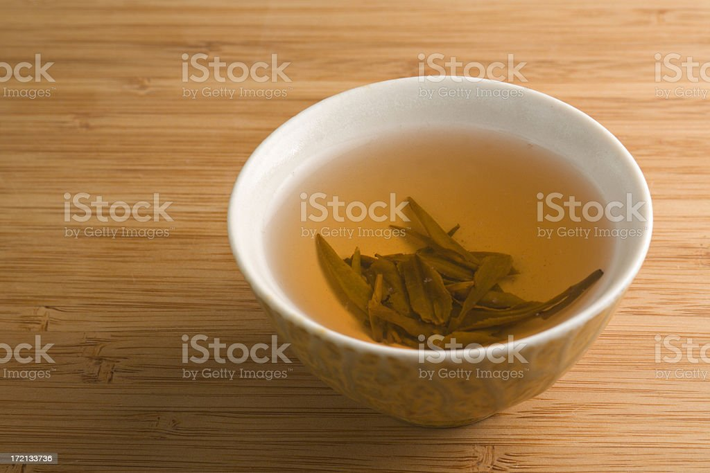 Green Tea on Bamboo Table royalty-free stock photo