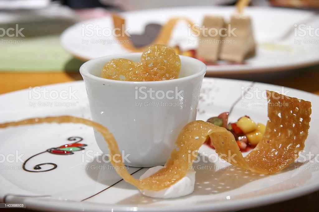 Green Tea Parfait royalty-free stock photo
