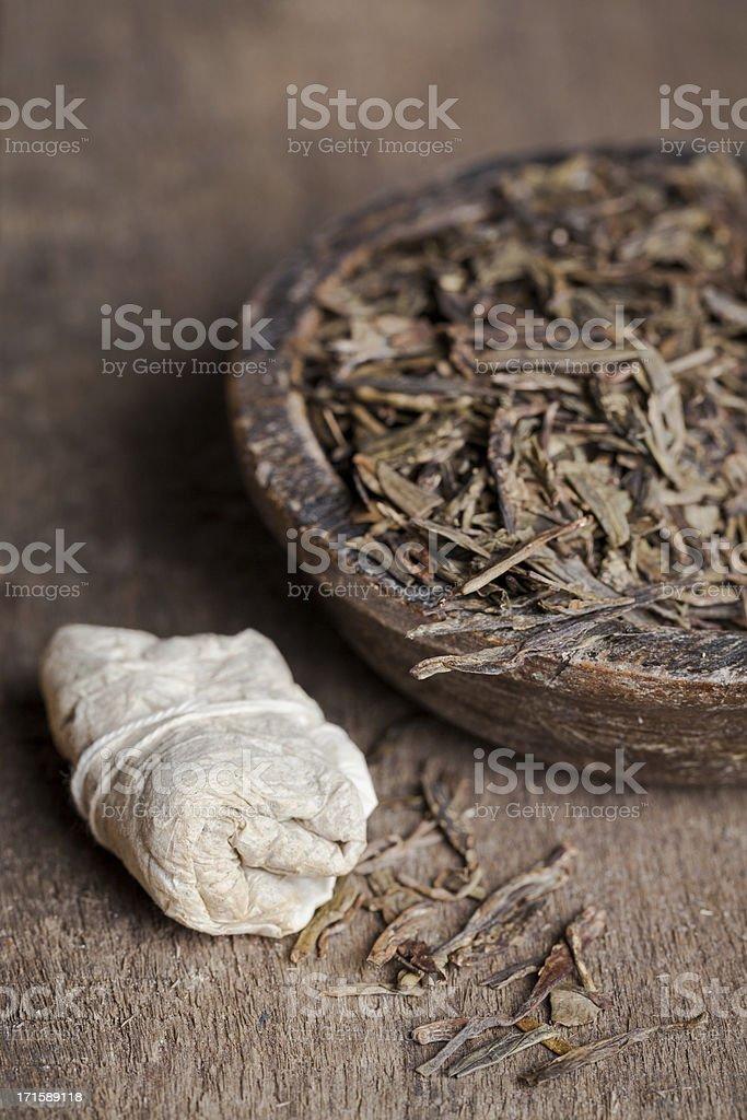 Green tea (bancha) stock photo