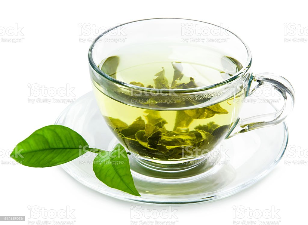 Green tea. stock photo