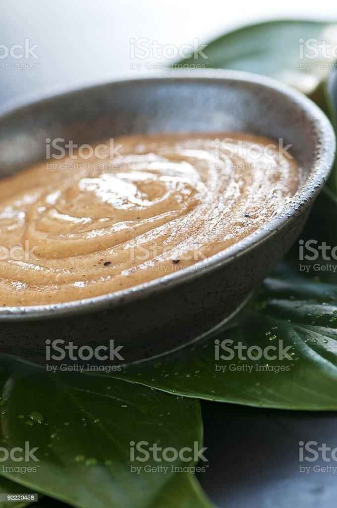 Green tea scrub royalty-free stock photo