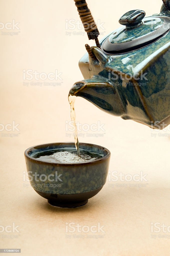 green tea time, royalty-free stock photo