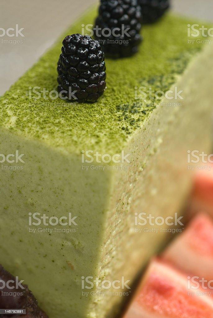 Green tea tiramisu royalty-free stock photo