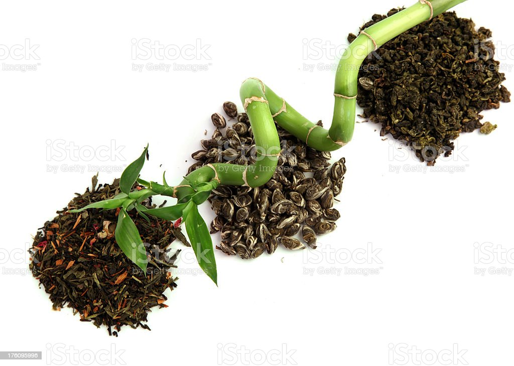 Green tea with bamboo. royalty-free stock photo