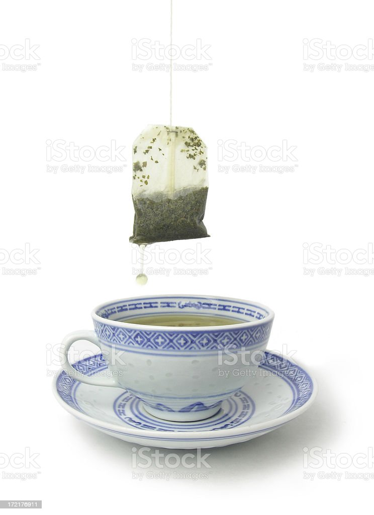 Green Tea with clipping path royalty-free stock photo