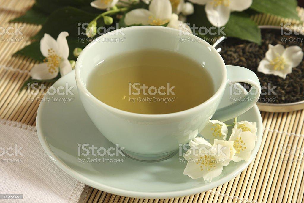 Green tea with jasmine aroma royalty-free stock photo