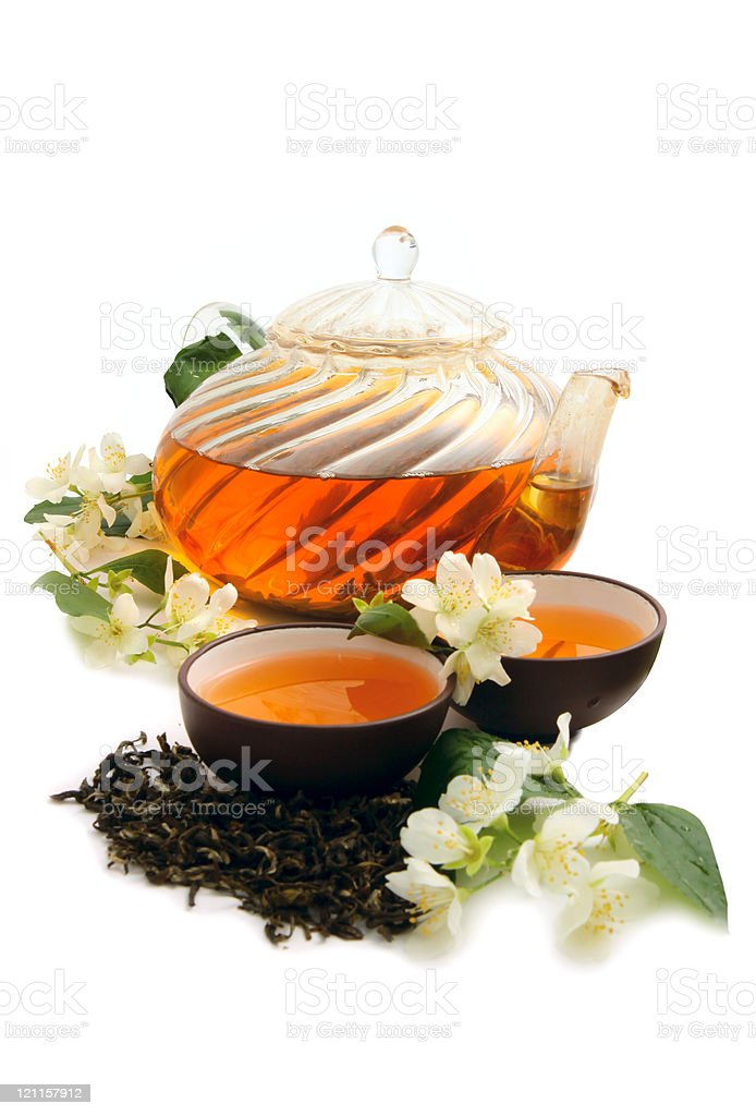 Green tea with jasmine royalty-free stock photo