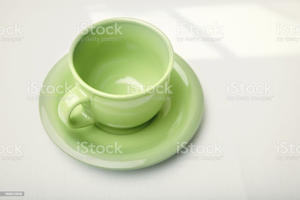 Green teacup royalty-free stock photo