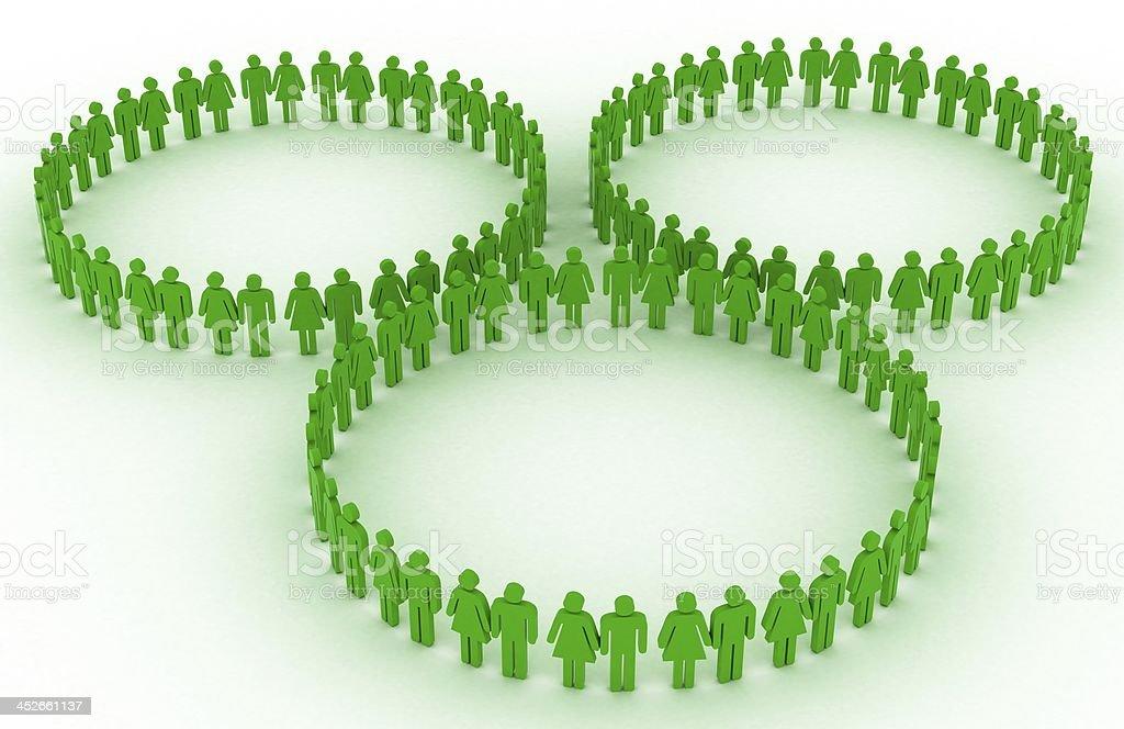 Green teamwork stock photo