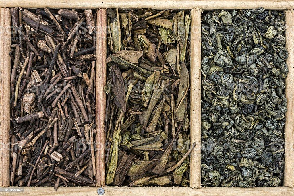 Green teas stock photo