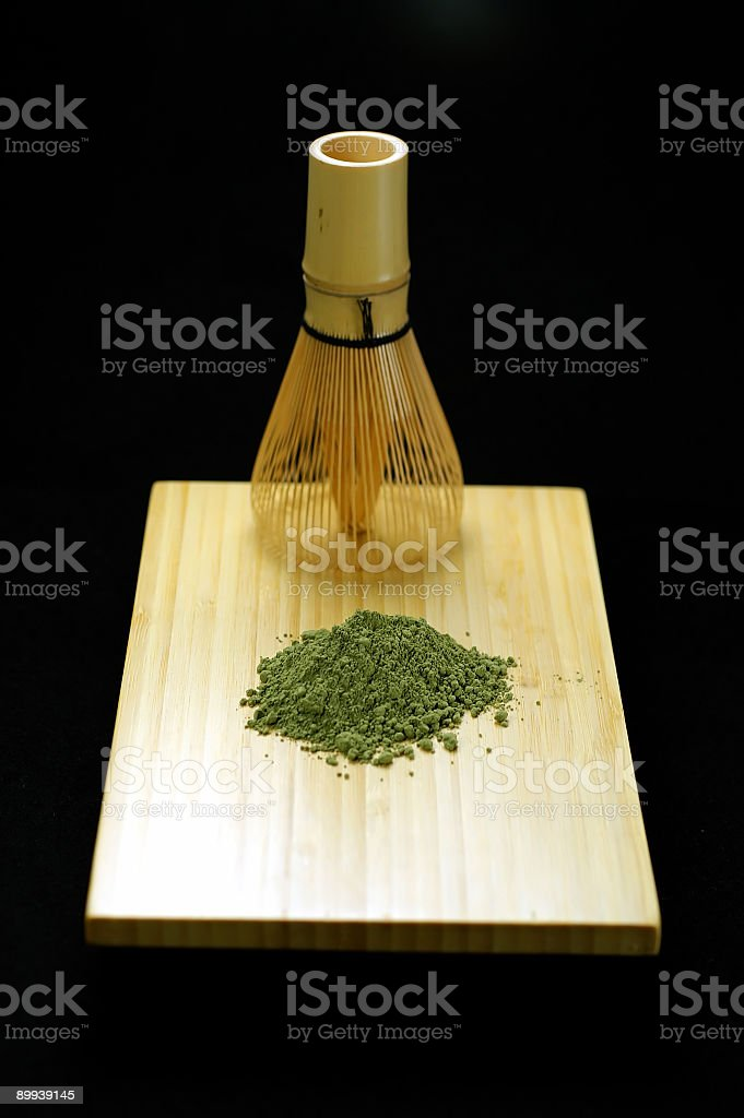 Green Teatime 6 stock photo