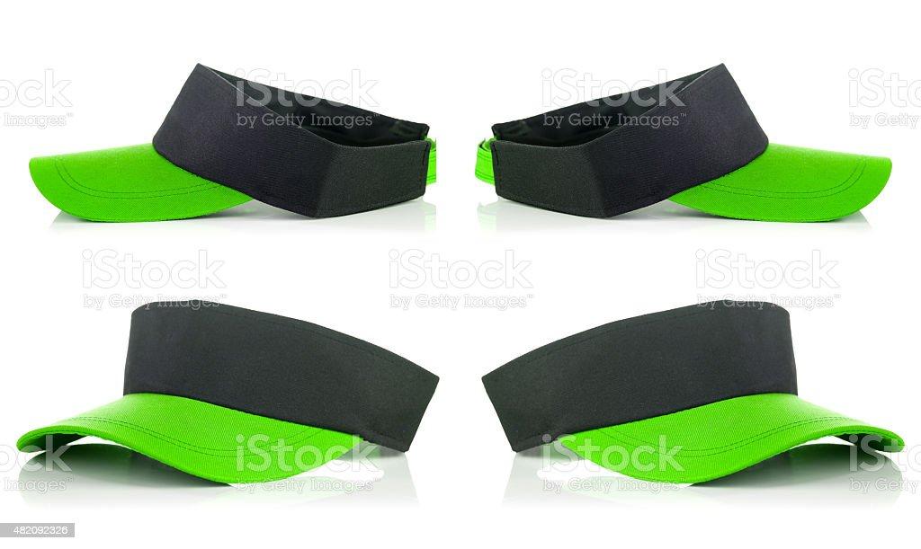 Green tennis cap stock photo