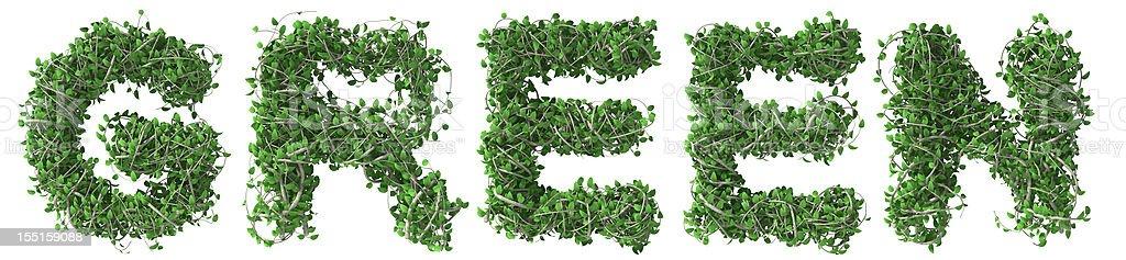 Green text royalty-free stock photo