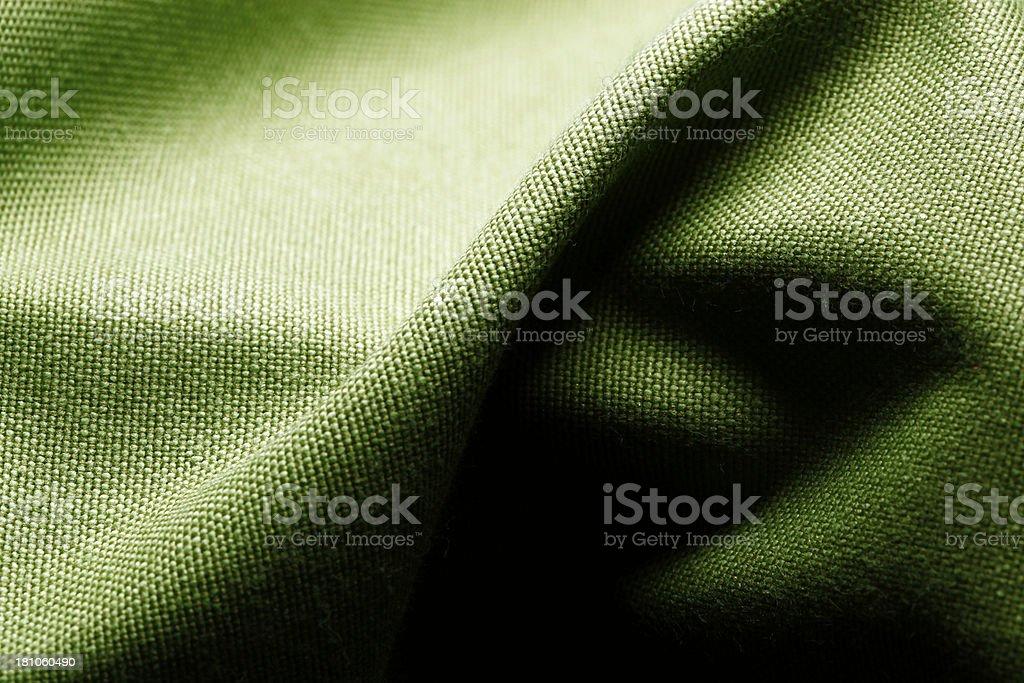 Green textile - background royalty-free stock photo