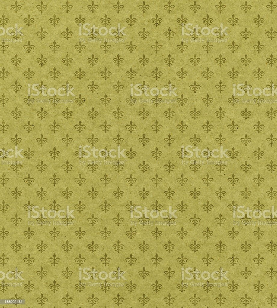 green textured paper with symbol royalty-free stock photo