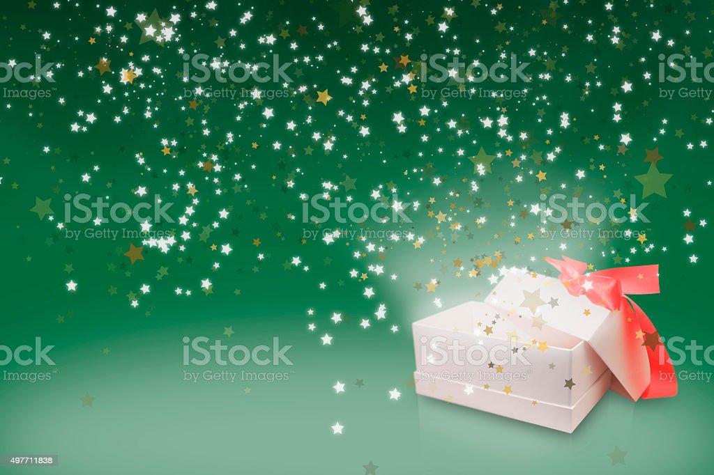 Grün Begrüßung seasons Sterne-box Lizenzfreies stock-foto