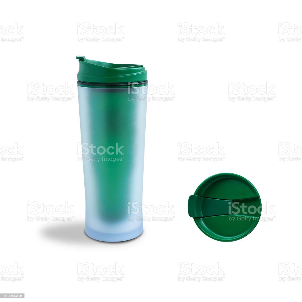 Green Thermo Cup stock photo