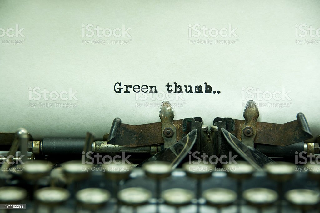 Green Thumb stock photo