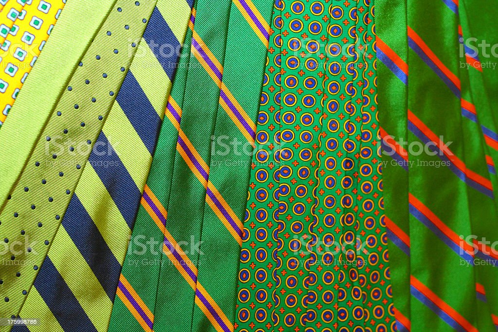 Green Ties royalty-free stock photo