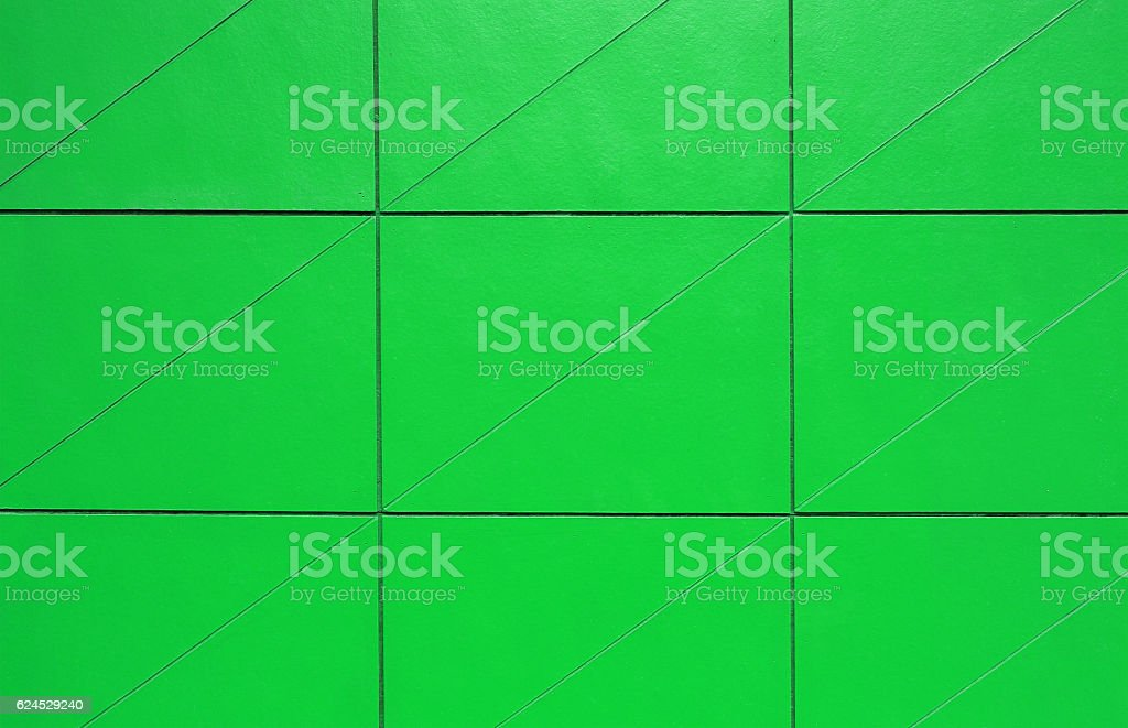 Green Tiles wall pattern stock photo
