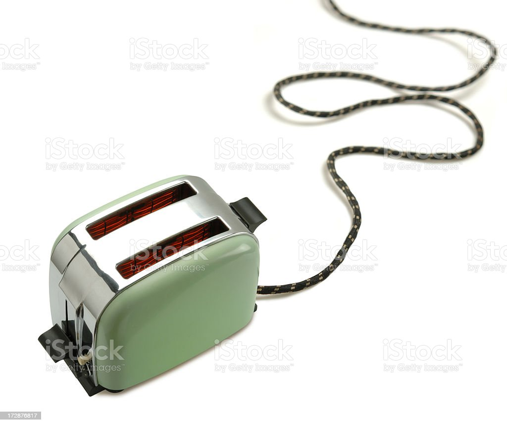 Green Toaster royalty-free stock photo