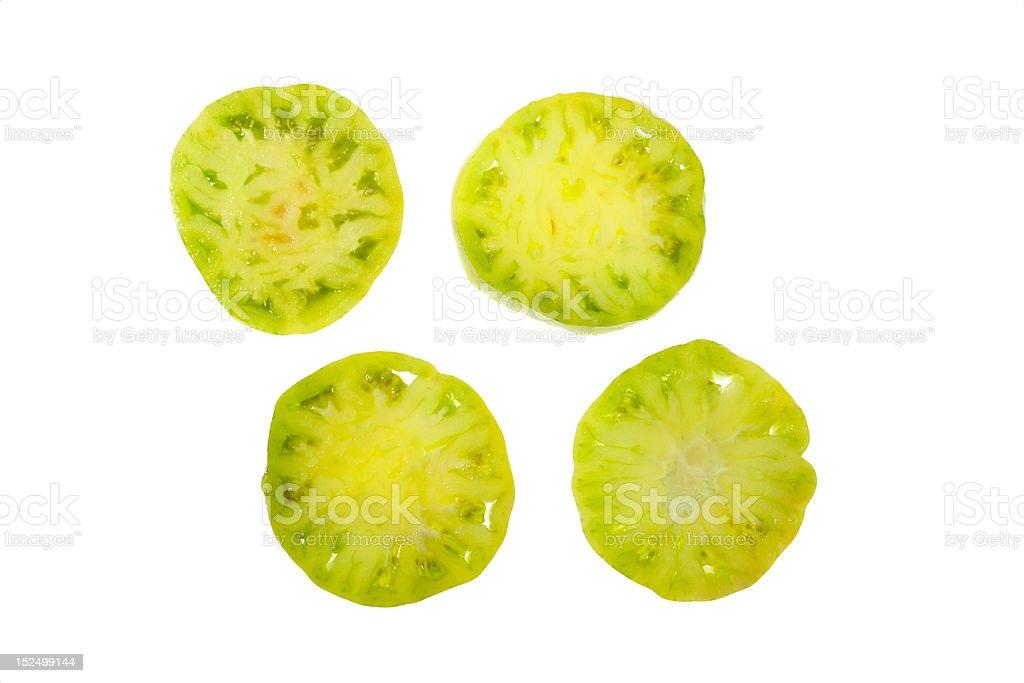 Green Tomato Slices stock photo