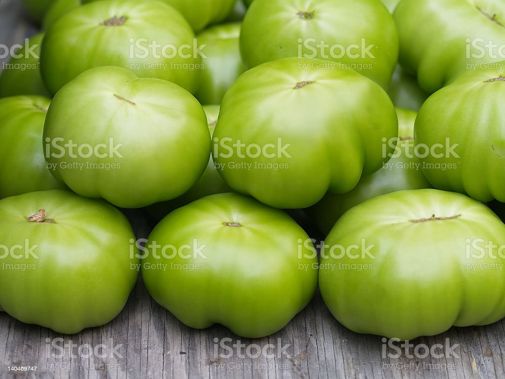 Green Tomatoes royalty-free stock photo
