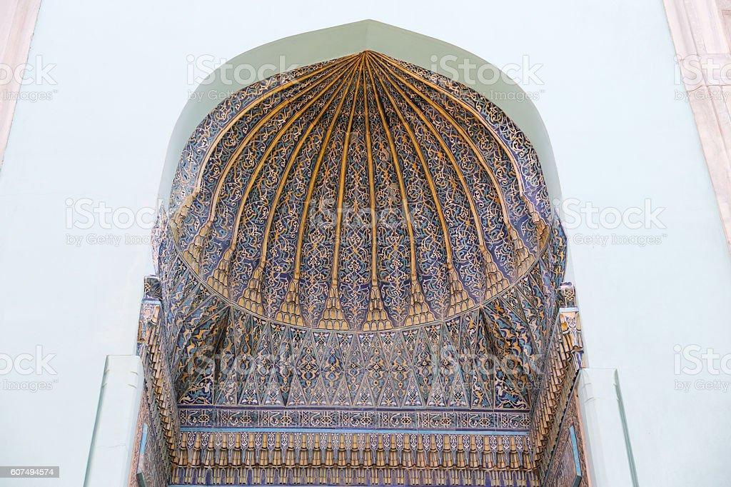 Green Tomb in Bursa City stock photo