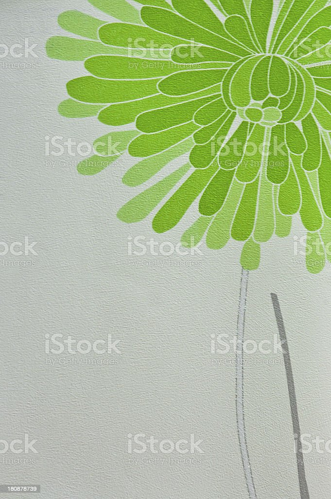 green tone flower wall coverings wallpaper royalty-free stock photo