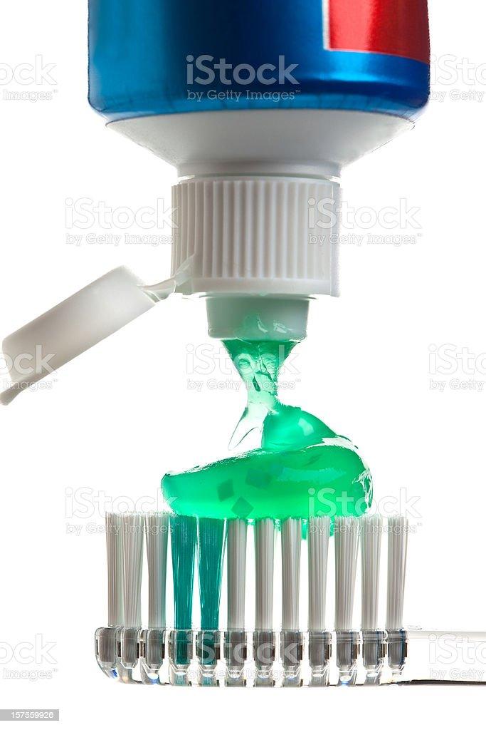 Green Toothpaste stock photo