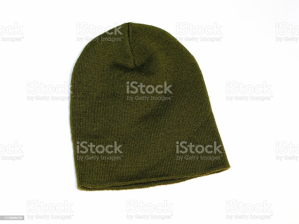 Green toque royalty-free stock photo