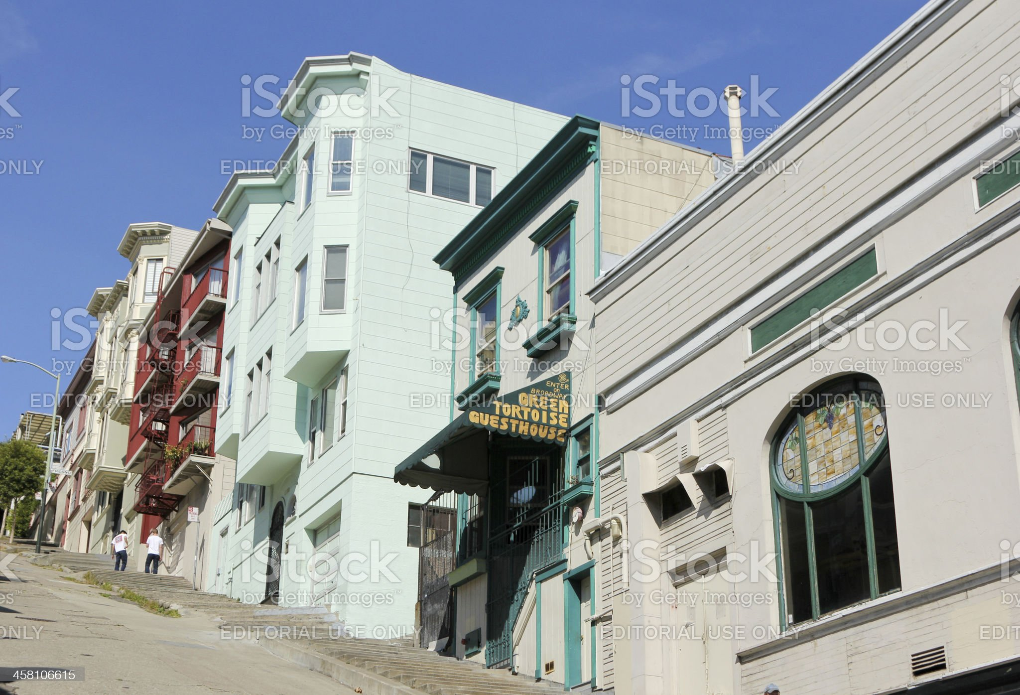 Green Tortoise Guesthouse in San Francisco, California royalty-free stock photo