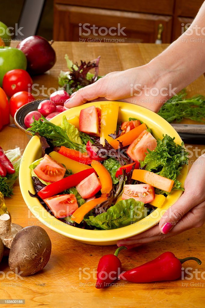 Green Tossed Salad royalty-free stock photo