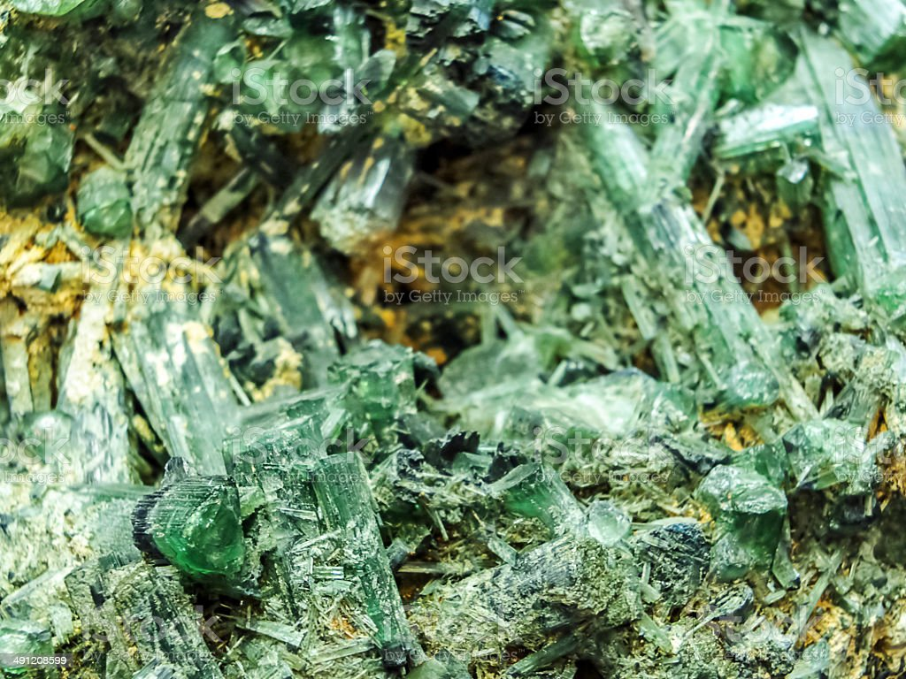 Green Tourmaline stock photo