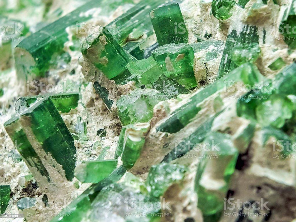Green Tourmaline stock photo